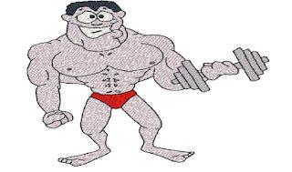 je mange des protéines pour mes muscles