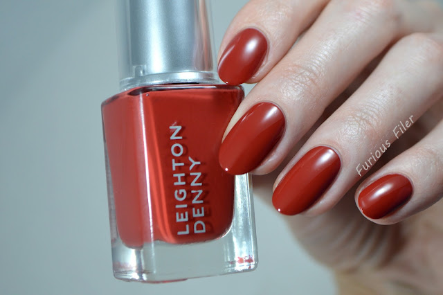 leighton denny swatch feel the burn nails red