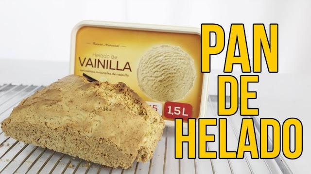 pan, helado, vainilla