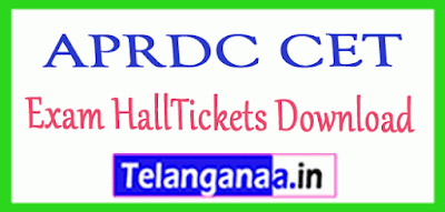 APRDC CET Exam HallTickets Download