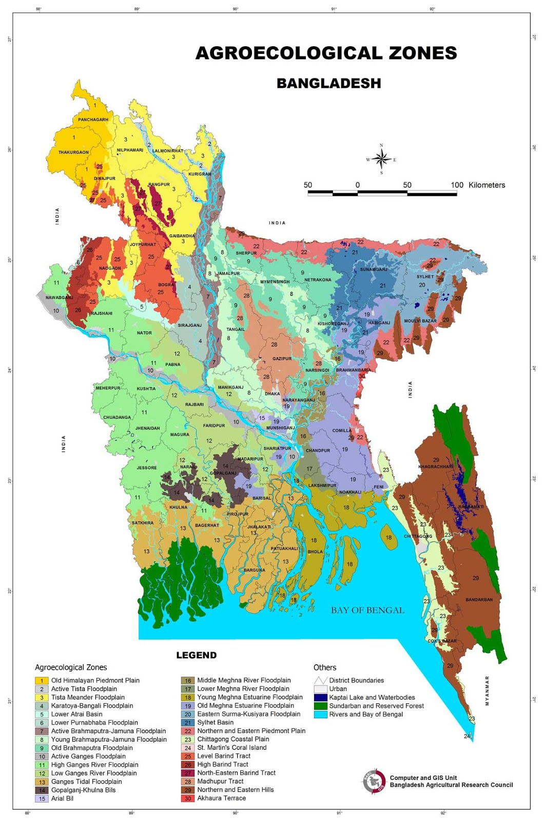 Agroecological Zones of Bangladesh