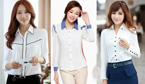 model baju blus putih
