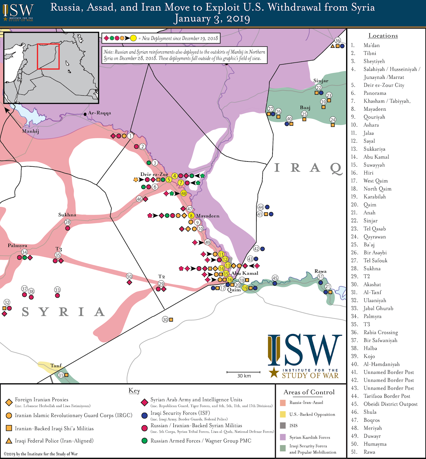 ISW Blog: Russia and Iran Prepare For New Syria Battlefield