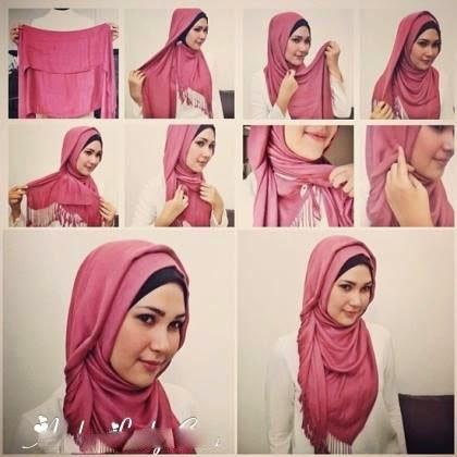 Hijab mode - Comment mettre hijab chale   Beautiful Hijab Styles 054682c3828