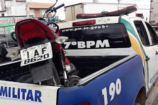 Polícia prende suspeito de roubo e recupera veículo em Lagarto