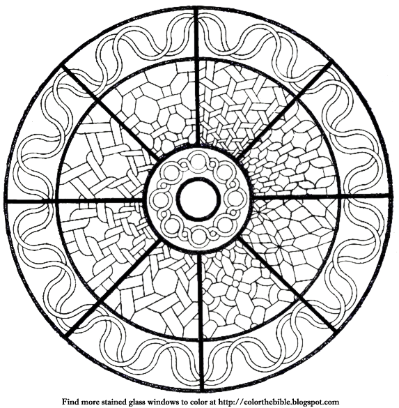 Color This Rose Window With Geometric Shapes Color The Bible