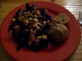 rezept vegan rotkraut mit semmelknödel hauptspeise