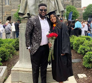 Davido's elder brother, Adewale Adeleke celebrated the love of his life who just bagged a M.S degree in Physiology and Biophysics from Georgetown University today.     Sharing photos from the graduation, he wrote 'congrats to the love of my life. So proud of you baby, I know how much time and effort you put into this degree. So blessed to have a smart, intelligent, beautiful woman in my life! This is only the beginning for us'.     Davido