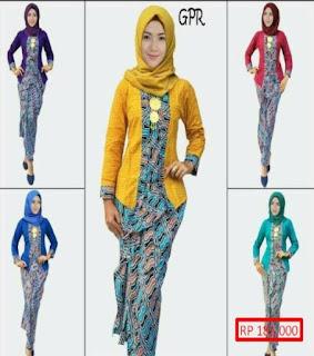 model baju batik setelan pramugari