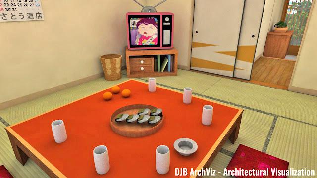 Chibi Maruko-chan's living room