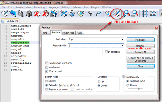 cara-menggabungkan-kata-perbaris-pakai-notepad++