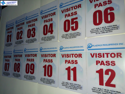 PVC Visitor Pass Cards for Plaengi Philippines, Inc.