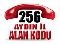 0256 Aydın telefon alan kodu