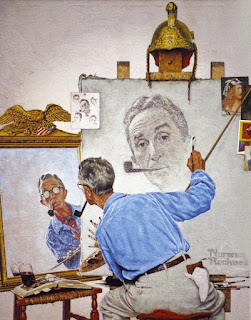 Norman Rockwell, Triple Autoportrait, 1960