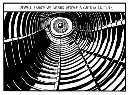 Comparing Huxley and Orwell, by Stuart McMillen
