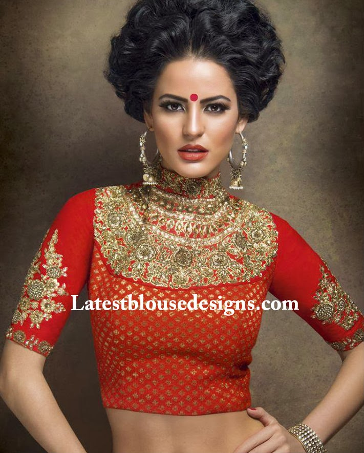 39fc60e5ca4 Sabyasachi High Neck Blouse