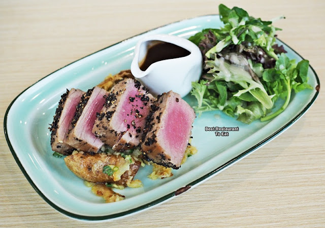 Maguro Tuna Steaks Eatropica Cafe Menara 1 Sentrum Nu Sentral Brickfield Kuala LumpurWestern and Malaysian Food at Eatropica Cafe Menara 1 Sentrum Nu Sentral Brickfield Kuala Lumpur