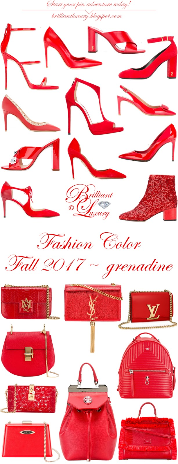 Brilliant Luxury ♦ Fashion Color Fall 2017 ~ grenadine