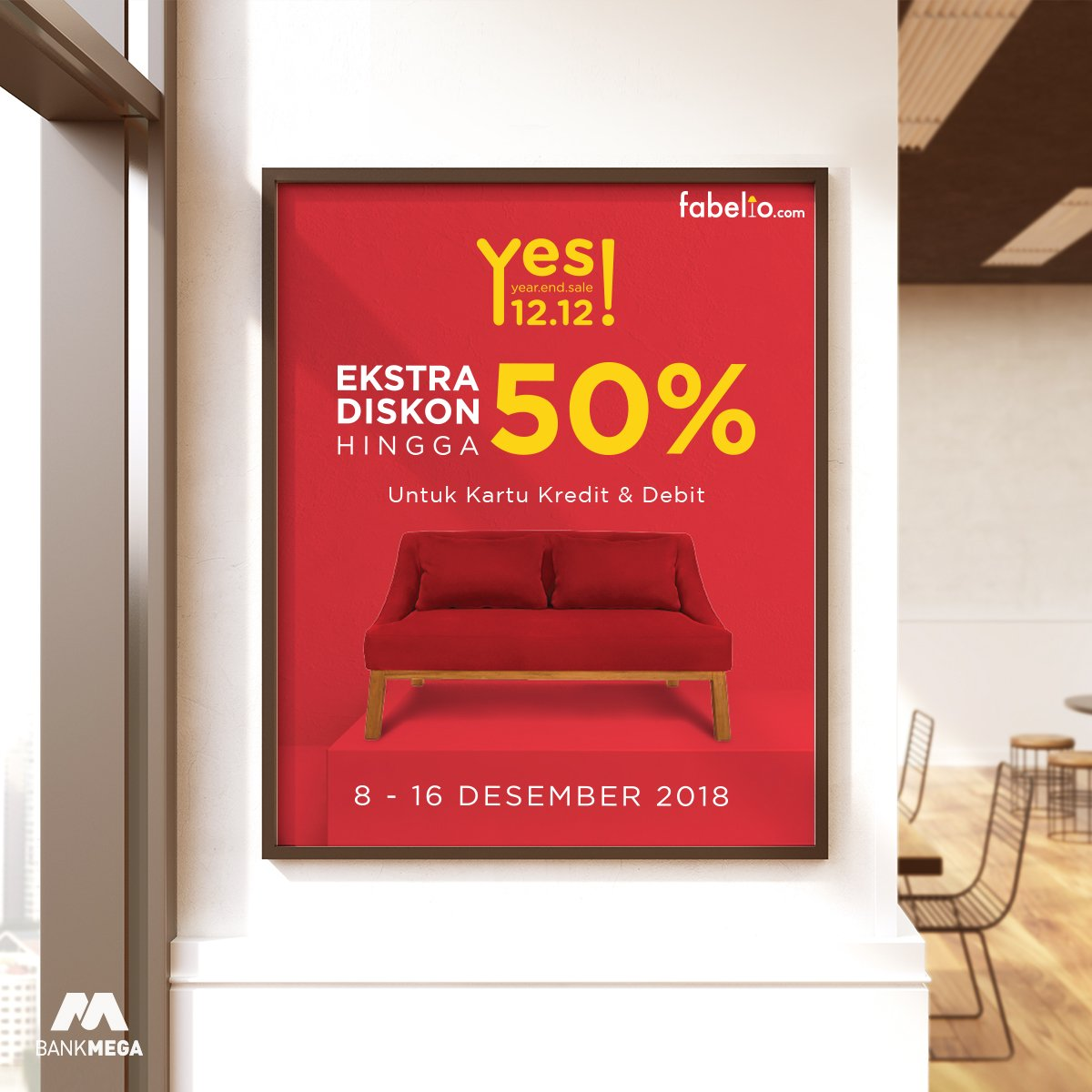 BankMega - Promo Ekstra Diskon s.d 50% di FABELIO (HARI TERAKHIR)