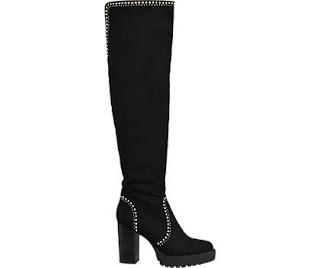 Cizme negre lungi cu toc bloc se pot cumpara online aici
