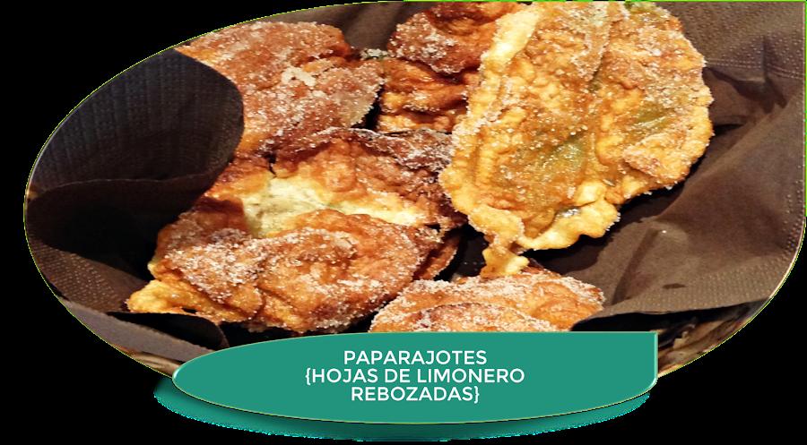 PAPARAJOTES {HOJAS DE LIMONERO REBOZADAS}