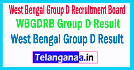 WBGDRB Group D Result 2018 West Bengal Group D Result