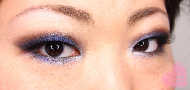 8ce59851947 I like the combination of this royal deep blue and the brown eyeshadow and  these lashes, my god, it is so feminin!