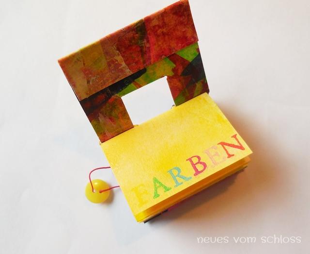 Mini-Buch, Frühlingspost, mail-art-Frühling 2017- neuesvomschloss.blogspot.de