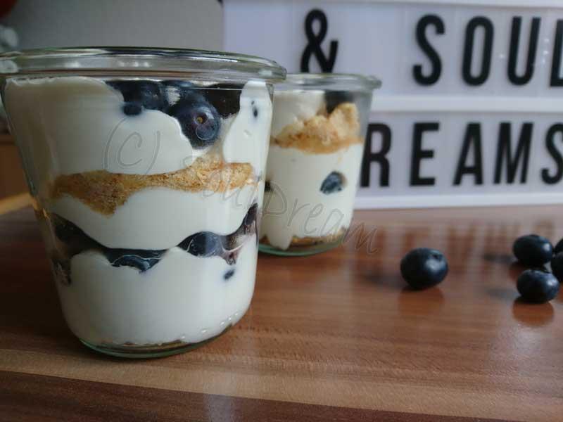 Amerikanischer Kühlschrank Quark : Rezept: quark heidelbeer dessert dessert schokiludas souldream