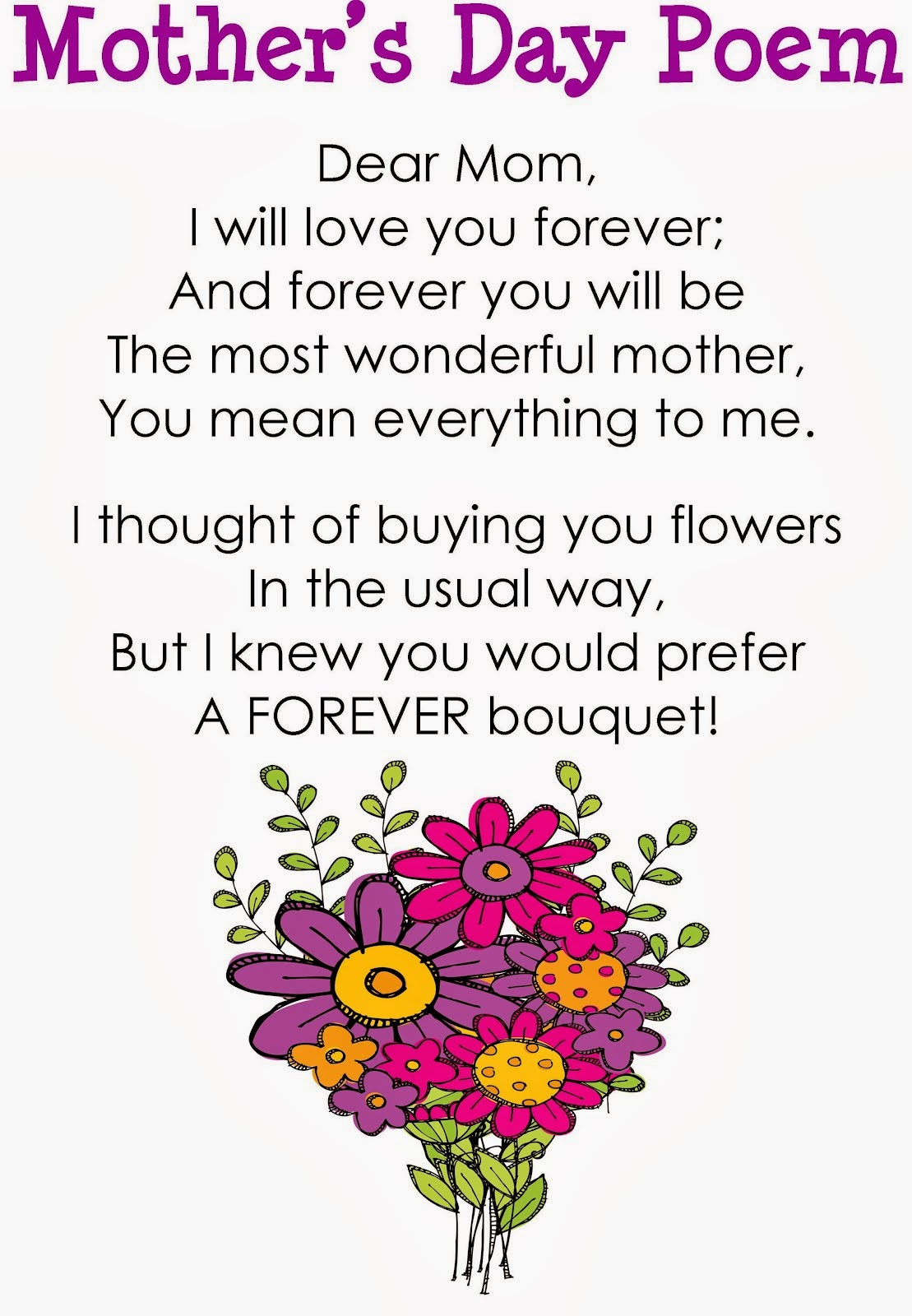 20+ Adorable Mothers Day Poems