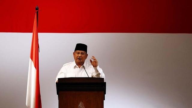 Prabowo Singgung Soal Pendukungnya yang Diburu Pake Pasal Makar