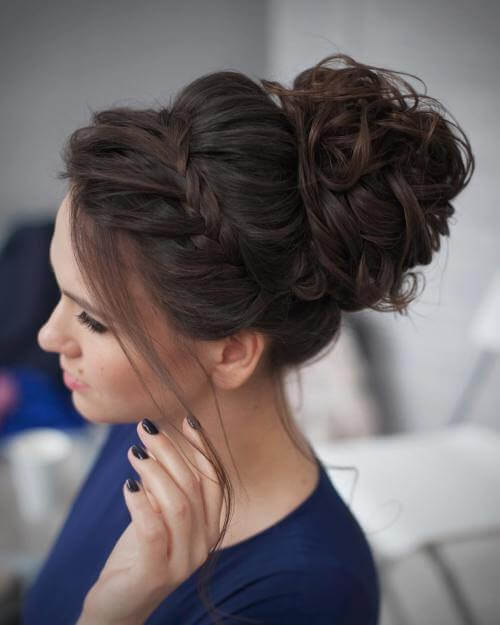curly ,new style ,pridesmaid updos for long hair