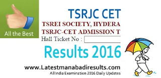 TSRJC Results 2016, TSRJC CET Rank Card 2016, TSRJC Counselling Dates 2016, Manabadi TSRJC Result 2016