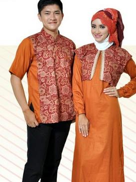 contoh desain baju batik couple terbaru