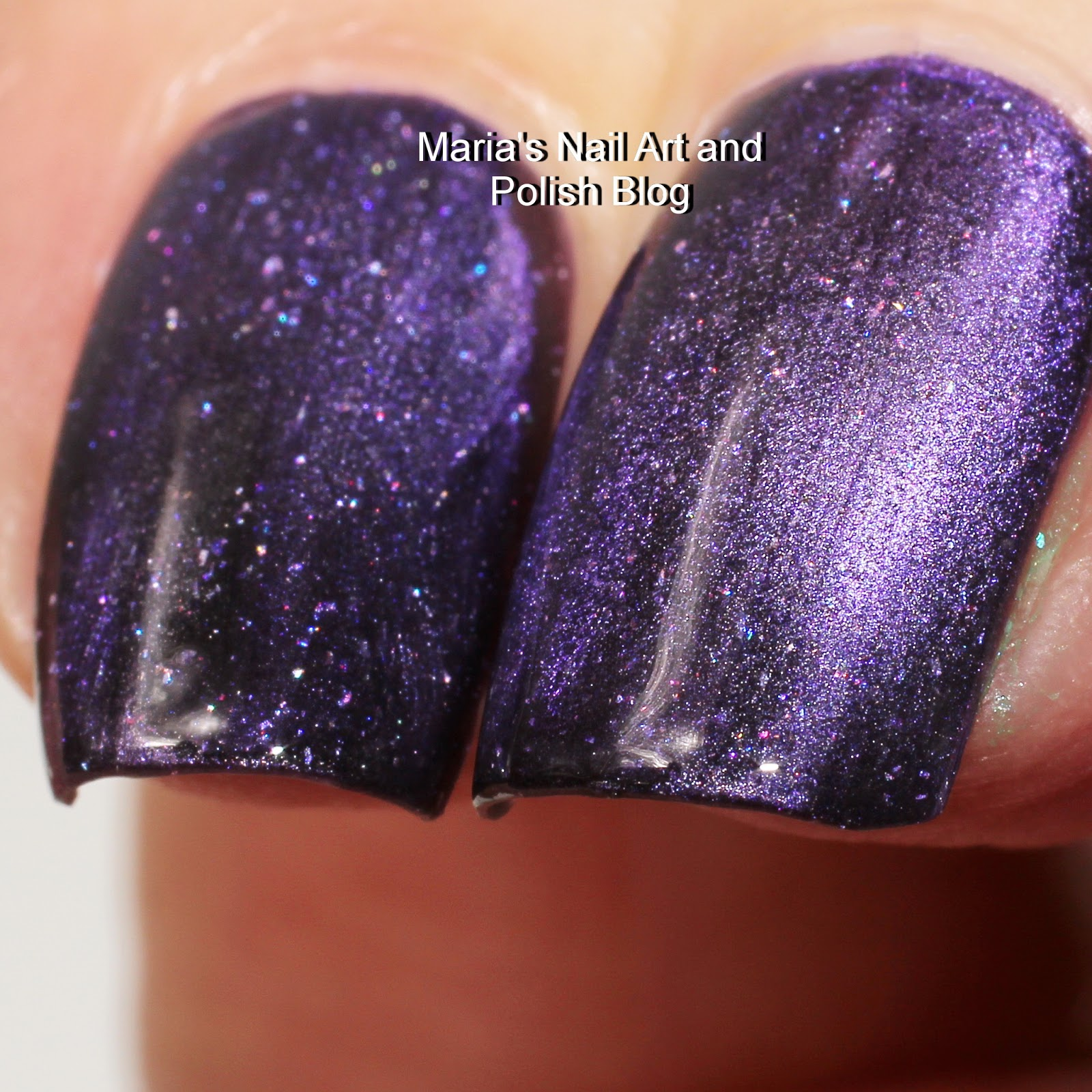Marias nail art and polish blog its a gorgeous purple with a flare within blue toned purple and almost smoky shades so fascinating it is very opaque in one coat but this is two with a prinsesfo Gallery