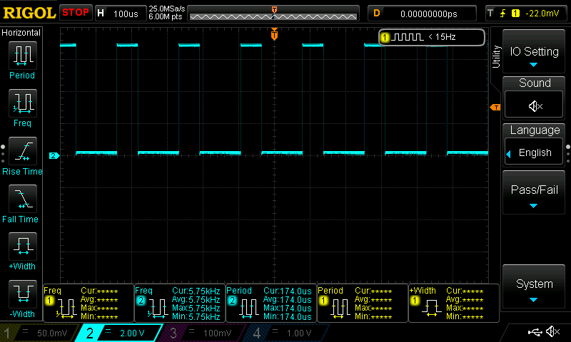simple laboratory generator, oscilloscope view, highest frequency