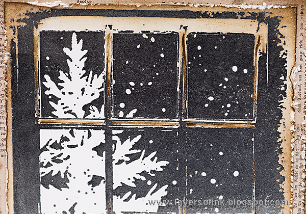 Layers of ink - Winter Window Card by Anna-Karin with the Frosty Day stamp by Penny Black