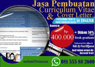 Jasa Pembuatan CV dan Cover Letter Profesional