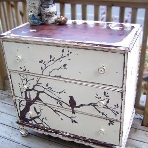 Painted Dresser Ideas dishfunctional designs: upcycled dressers: painted, wallpapered
