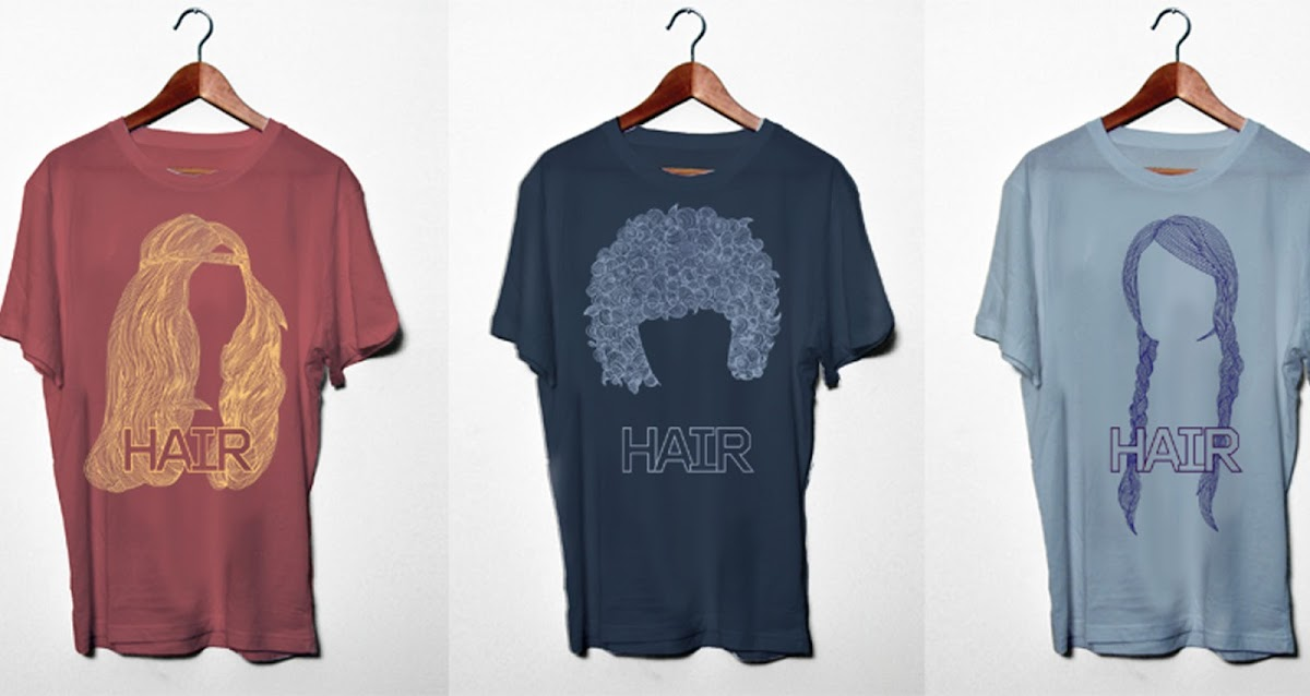 three of the Hair tee shirts