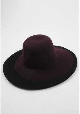 modny kapelusz z dużym rondem marsala trendy 2016 blog modowy netstylistka