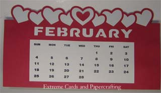 optional center heart on calendar