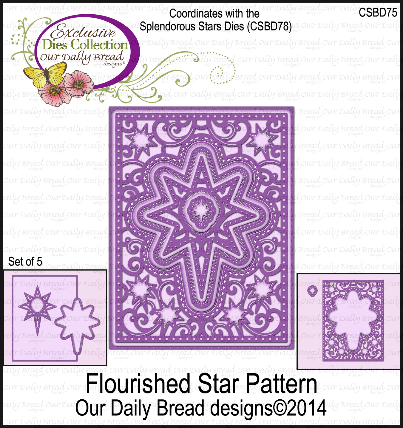 Our Daily Bread Designs Custom Flourished Star Pattern Die