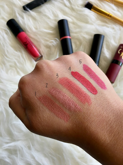 5 Affordable lipsticks under 5 euro - swatches - Ioanna's Notebook