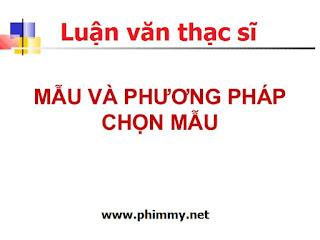phuong phap chon mau, luan van thac si, luận văn thạc sĩ