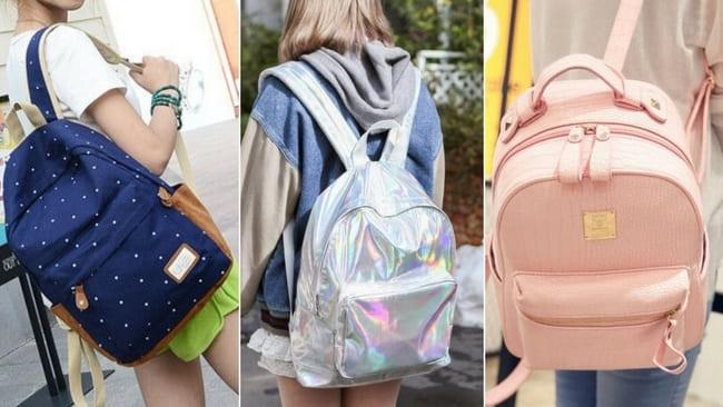 mochilas coloridas ou estampadas