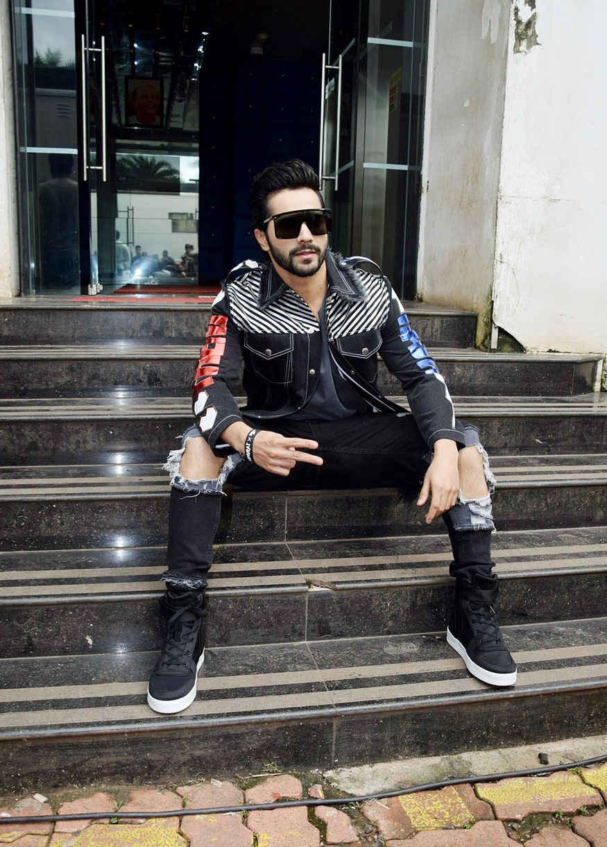 Varun Dhawan On The Sets of Dance Plus Season 3 for 'Judwaa 2' Promotion at Filmcity