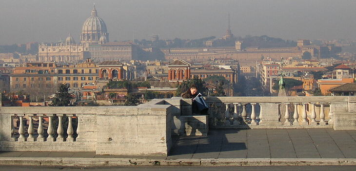 Roma La Città Eterna Terrazza Del Pincio