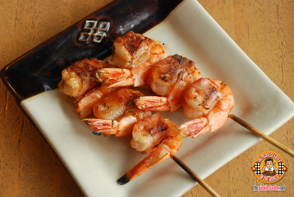 shrimp with bacon