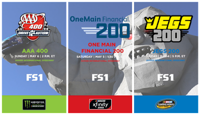 Schedule for this #NASCAR Weekend #MENCS, #NXS, #NCWTS